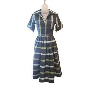 Sucrefas blue plaid dress
